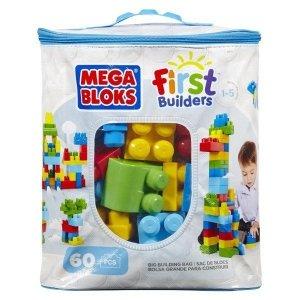 Mega Bloks Klocki 60 elementów torba niebieska