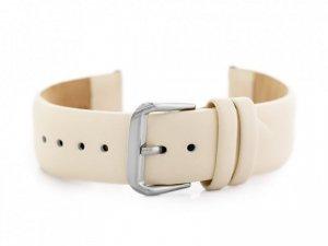 Pasek skórzany do zegarka W76 - beżowy - 20mm