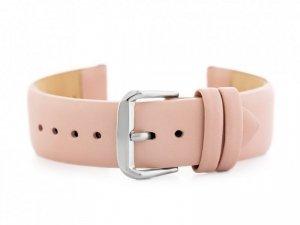 Pasek skórzany do zegarka W76 - różowy - 20mm