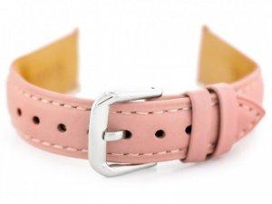 Pasek skórzany do zegarka W94 - jasnoróżowy - 14mm