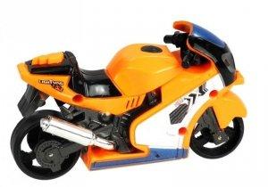 Motor Motorek Ścigacz Gra Świeci Pomarańcz
