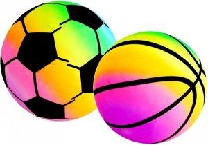 Gumowe Piłki Zestaw Kolorowe Piłeczki 15 cm 2 Szt
