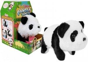 Interaktywna Panda Czarno-Biała Chodzi Otwiera Buzie Wydaje dźwięki na Baterie