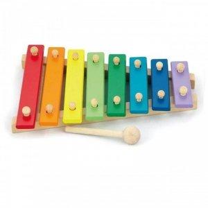 Cymbałki Kolorowe Dzwonki Chromatyczne Drewniane Viga Toys