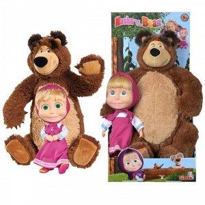 Simba 2w1 Masza i Niedźwiedź Zestaw Pluszowy MIŚ Lalka Maskotka