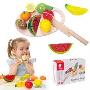 CLASSIC WORLD Drewniany Zestaw Do Krojenia Owoców