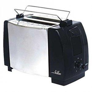 Adler AD 35 Black/Silver, Metal, 750 W, Number of slots 2, Number of power levels 1, Bun warmer included
