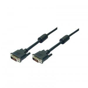 Logilink DVI-D (24+1) - DVI-D (24+1), dual link, 2 , black, connection cable