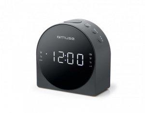 Muse Dual Alarm Clock radio PLL M-185CR AUX in,