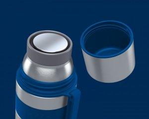 Boddels HEET Vacuum flask with cup Isothermal, Night blue, Capacity 0.7 L, Diameter 7.2 cm, Bisphenol A (BPA) free