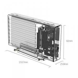Orico Dual-Bay Hard Drive Enclosure with RAID 2259C3 2.5
