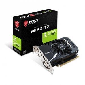 MSI GeForce GT 1030 AERO ITX 2G OC NVIDIA, 2 GB, GeForce GT 1030, GDDR5, PCI Express 3.0 x16 (uses x4), Processor frequency 1518