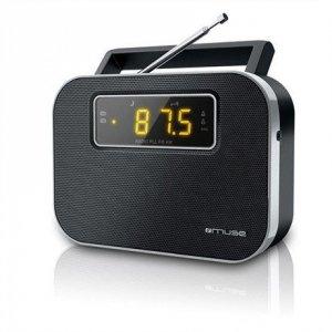 Muse M-081R Black, Alarm function, 2-band PLL portable radio