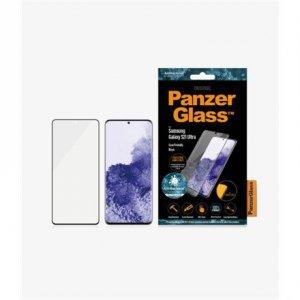 PanzerGlass Samsung, Galaxy S21 Ultra Series, Antibacterial glass, Black, Antifingerprint screen protector, Case Friendly