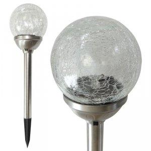 Lampa Solarna Szklana Kula śr.6cm 1 LED