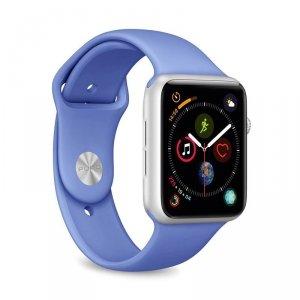 PURO ICON Apple Watch Band - Elastyczny pasek sportowy do Apple Watch 42 / 44 mm (S/M & M/L) (niebieski)