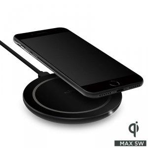 PURO Wireless Charging Station Qi - Bezprzewodowa ładowarka indukcyjna Qi do iPhone i Android, 5 W (czarny)