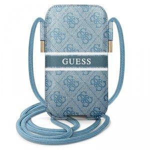 Guess 4G Printed Stripe Pouch - Torebka na telefon L (niebieski)