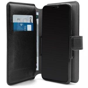 PURO Universal Wallet 360° - Uniwersalne etui obrotowe z kieszeniami na karty, rozmiar XL (czarny)