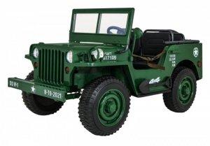 Pojazd Retro Wojskowy 4x4 Zielony