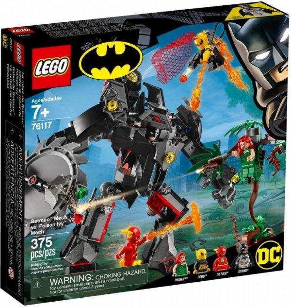 Klocki Super Heroes Mech Batmana kontra mech Trującego Bluszcza