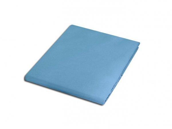 Prześcieradło satyna bawełniana 200x220 cm kolor niebieski