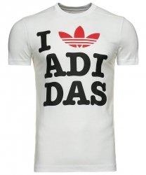 Adidas Originals koszulka t-shirt biały I love Adidas