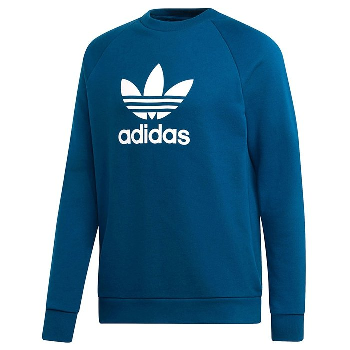 Adidas Originals niebieska bluza męska Trefoil Crew DV1545
