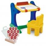 Chicco Edukacyjne biurko z tablicą i krzesełkiem + Drewniane kręgle gratis!