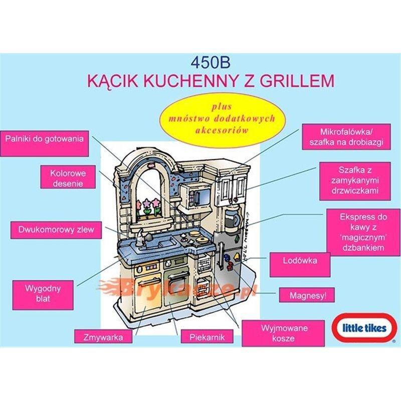 Little Tikes Kuchnia Kącik Kuchenny Z Grillem Kuchenka