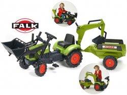 FALK Traktor CLAAS ARION 410 z przyczepa