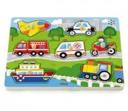 VIGA Puzzle z Dźwiękiem - Pojazdy