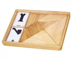 VIGA Drewniane Puzzle - Tangram