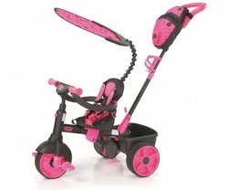 LT Rowerek Trójkołowy 4 w1 Deluxe Ed-Neon Pink
