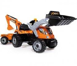 SMOBY Traktor z przyczepą i łyżkami MAX