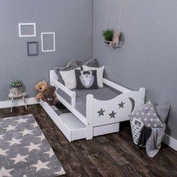 Łóżko dziecięce sosnowe Chrisi białe 160/80 + Materac