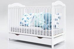 Łóżeczko niemowlęce tapczan 2w1 z szufladą Alek 120x60 biały