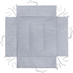 LULANDO Mata do kojca 100x100 cm - Szary w białe gwiazdki