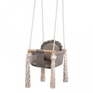 LULANDO Huśtawka dla dzieci Swing Frill - Szary