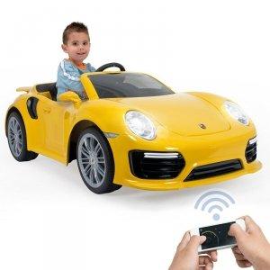 INJUSA Samochód elektryczny Porsche 911 Turbo S Special Edition Żółte 6V