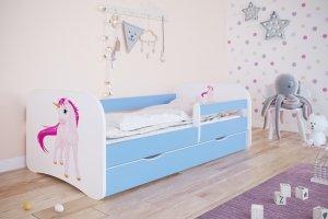 Łóżko dziecięce JEDNOROŻEC różne kolory 160x80 cm