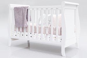 Łóżeczko niemowlęce tapczan 2w1 MISZA biały 120x60