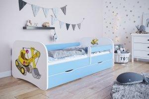 Łóżko dziecięce KOPARKA różne kolory 160x80 cm