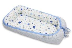 KOKON NIEMOWLĘCY COTTON-WAFFEL BABY BLUE & BLUE STARS