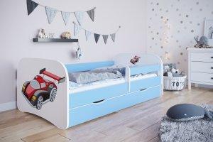 Łóżko dziecięce AUTO WYŚCIGOWE różne kolory 160x80 cm