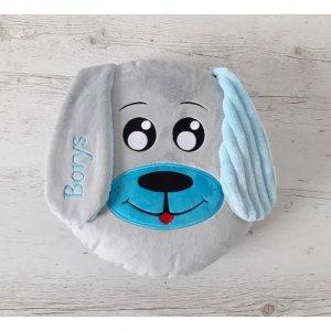 Poduszka personalizowana Piesek Niebieski