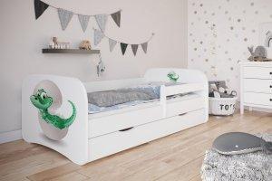 Łóżko dziecięce MAŁY DINO różne kolory 140x70 cm