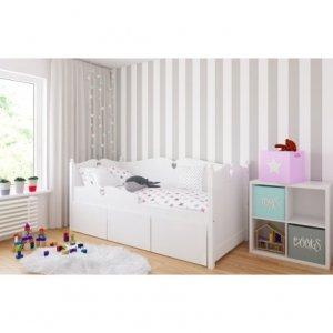 Łóżko dziecięce BELLA z trzema szufladami