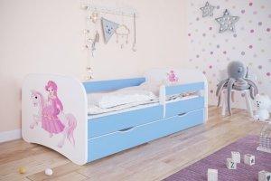 Łóżko dziecięce KSIĘŻNICZKA NA KONIKU różne kolory 180x80 cm