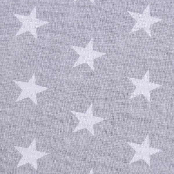 Lulando Zasłony 155x120 cm gwiazdki białe na szarym tle
